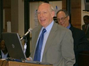 Bill White w/ Chairman Birnberg Looking On